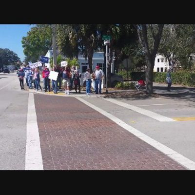 2017 Immigration Ban Protest Vero Beach Florida